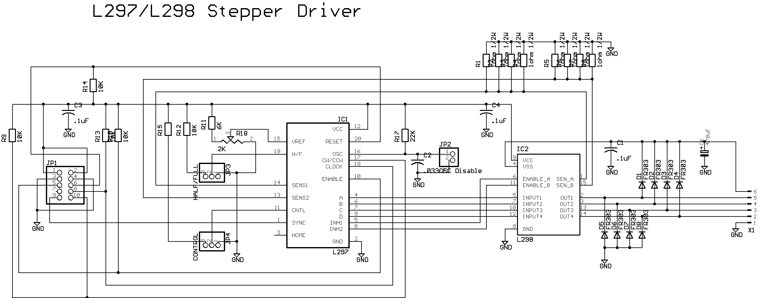 L298n Stepper Motor Driver Circuit Control Diagram L297 298